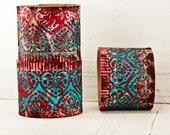 Leather Cuffs Bracelets, 2016 Gift Idea, February Trends, Jewelry For Women, Handpainted Etsy Finds, Winter Time, Valentine's Day Gift