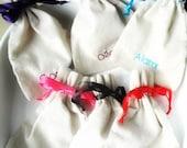 Personalized gift bag with ribbon  Bridesmaid favor bag  Drawstring Linen cotton bag  Bachelor party   Bridesmaids Party Favors  Bridal Gift