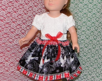 18D-35) 18 inch doll clothes ( pretty christmas dress)