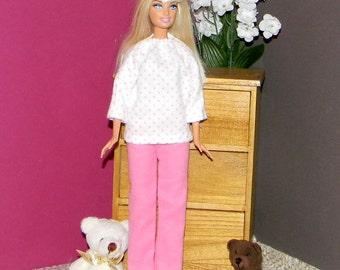 BSPJ-01 ) Barbie flannel pajamas