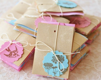 Wholesale Bulk Coffee Stained and Hand Dyed Blank Tags Set of 200