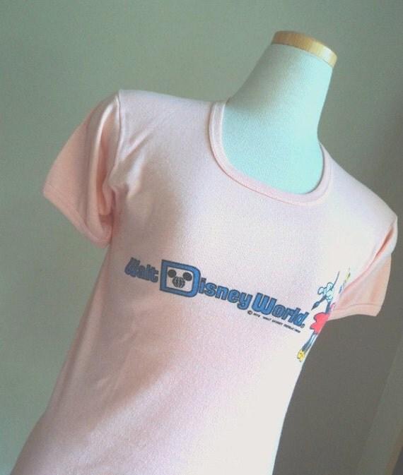 Vintage 1970's Walt Disney Shirt //  Minnie Mouse TShirt //  Original Mickey Mouse Character TShirt