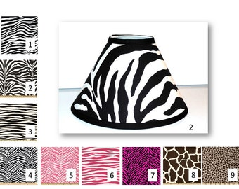 Zebra Lampshade, Giraffe Lampshade, Leopard Lampshade, Animal lampshade, animal print lampshade, zebra lamp shade, nursery lampshade