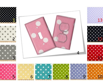 Polka Dot Switch/Outlet Cover Plate - Your choice of color and style