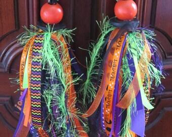 Halloween decor - ribbon tassels
