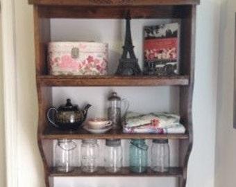 Custom cookbook, spice shelf