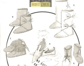 Butterick B5233 Making History Sewing Pattern, Historical Footwear