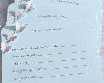 Bridal Shower Advice Cards -  Wedding Shower Advice Tags - Advice Cards for Brides To Be - Marriage Advice Cards - ADVB