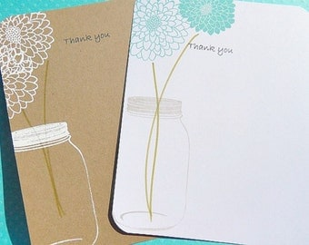 Thank You Cards -  Wedding Thank You Cards - Bridal Shower Thank You Cards - Baby Shower Thank You Cards - Kraft Thank You Cards - kmjtyc