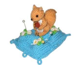 Squirrel Pincushion Pdf Email knit PATTERN
