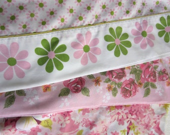 Vintage Pink Floral Pillow Cases set of 3