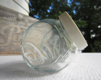 Vintage Small Glass Tilt Jars Mini Candy Shop Counter Jars