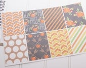 8 Fall Autumn Planner Stickers Squares Full Box Planner Stickers PS230