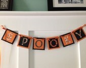 Halloween banner, holiday banner, spooky banner, holiday decoration, fall banner, autumn banner