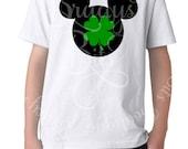 Disney St Patricks Day Shirt - Shamrock Mouse Head