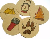 Camping Decor, Mason Jar Toppers, Outdoors, Mason Jar Lids, Mason Jar Decoration, Camping Theme, Camping Party, Wide Mouth Mason Jar Lids,