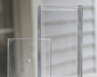 Clear plastic box with lid