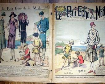 Le Petit Echo de la Mode, July 15 1928, Vintage French Magazine