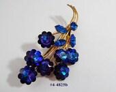 FREE SHIP Heliotrope Margarita Rhinestones Blue Purple Austria (4-4825)