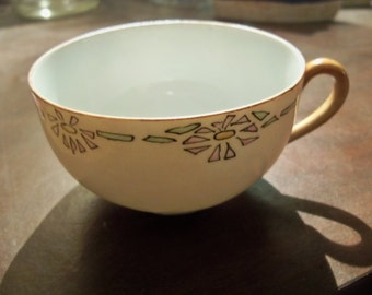 small mystery thin tea cup F.Brown  1962