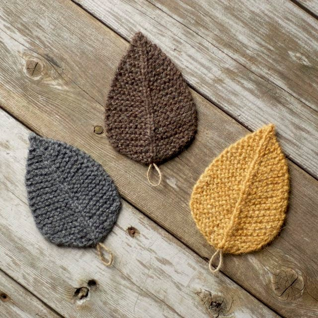Knitting Pattern Autumn Leaves Leaf Knit Leaves