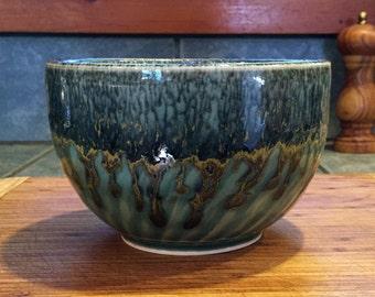 Porcelain Bowl with Green Celadon Glaze