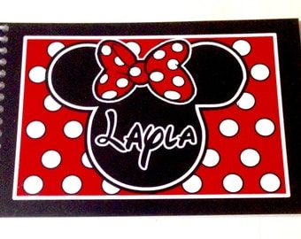 Personalized Disney Autograph Book MINNIE MOUSE Polka Dots - Keepsake Book - Custom Book Free Personalization - NOW more color Choices