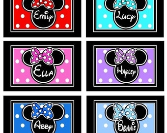 Disney Autograph Book Personalized - Mickey and Minnie Mouse - choice of 6 colors and styles