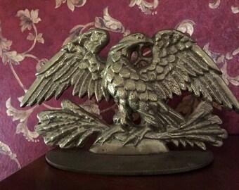 Solid brass american eagle doorstop