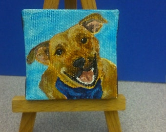 Private listing Custom Mini Pet Portrait plus easel