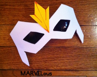 Man of the Falcon style unMask™ mask fastens onto your favorite Eyewear by LauriJon™ Studio City