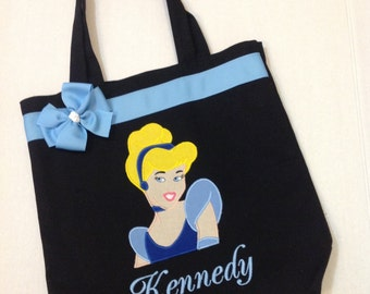 Personalized Tote Bag, Personalized Tote, Cinderella Tote Bag, Cinderella Tote, Cinderella Gift, Personalized Cinderella, Princess Tote bag