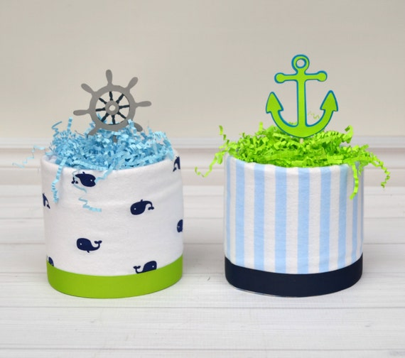 boy baby shower centerpieces nautical diaper cakes nautical baby