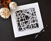 michigan state university or notre dame hand cut map