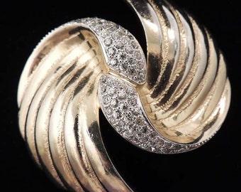 BOBLEY Brooch, Vintage Bobley Brooch, Rhinestone Gold Bobley Brooch, Rare Bobley Brooch, Gold Bobley Brooch, Bobley Pin, Bobley Jewelry