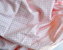 Ralph Lauren Bed Sheet - Pale Pink and White Petite Gingham - Twin Fitted