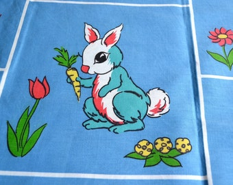 Vintage Fabric - Mod Animals Squares - 44 x 61 Broadcloth