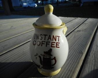 Vintage Tilso Japan Instant Coffee Jar