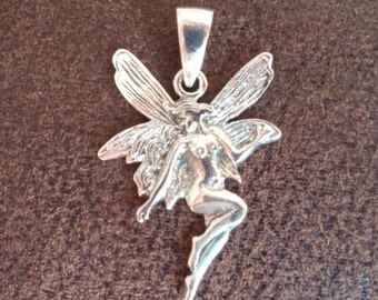 Sterling Silver Irish Fairy pendant with bail for jewelry making