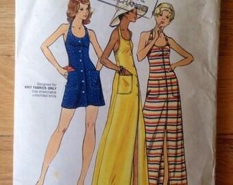 70's Butterick 3153 Knit Sun Dress - size 12