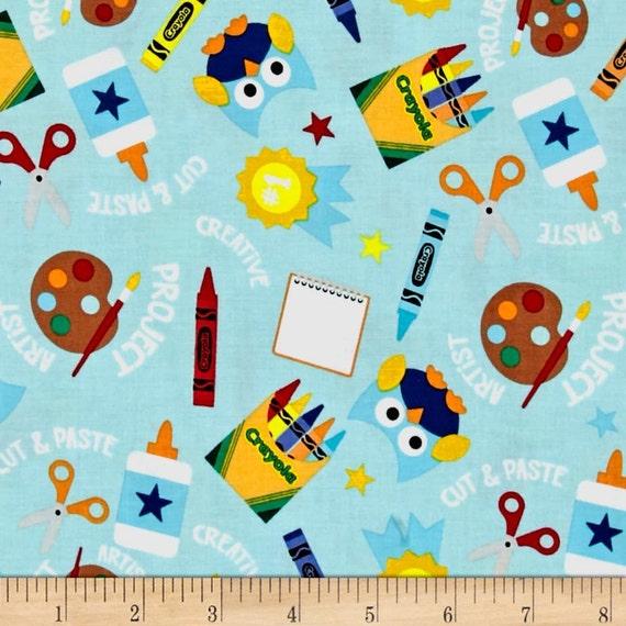 "... crayola main blue, two 38"" wide panels, nursery rod pocket curtains"