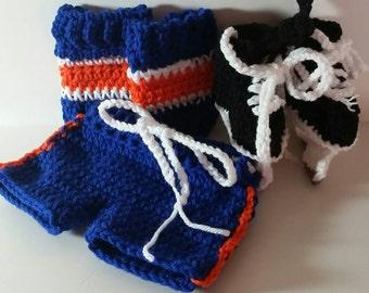 Islanders  Hockey Skates and Hockey Socks with shorts, NHL Skates, NHL Socks set Islanders