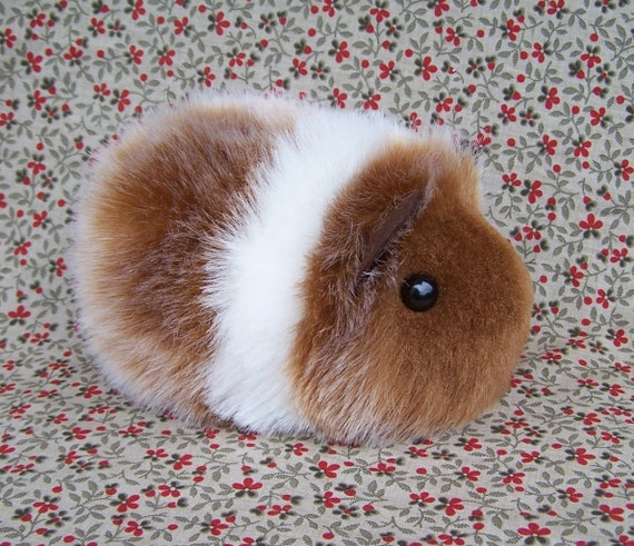 Red And White Toy Guinea Pig Cute Handmade Plush Animal
