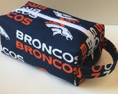 Hygiene Bag / Vacation /Toiletry / Travel Bag - Denver Broncos