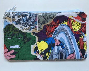 Reusable Snack Bag, Food Bag, Zipper Bag, Essential Oil Bag - comics