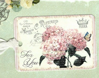 French Tags, Hydrangea, Gift Tags, Vintage Style, For You, Party Favors