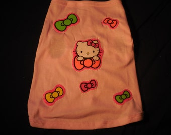 Hello Kitty inspired Doggie tee (not a licensed product)