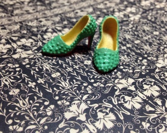 """Custom Original """"MARY LILLI MAGPIE""""11 1/2 Fashion Doll Shoes Spiked Model Muse"""