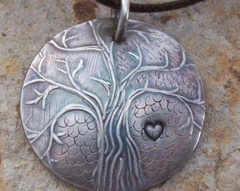 Sterling Silver Necklace, Silver Tree Pendant, Silver Anniversary Gift For Her Wife, Graduation, Tree of Life, Doula Midwife Gift