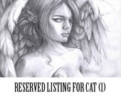 RESERVED LISTING Colored Pencil 8in x 10in for Cat 1st payment.